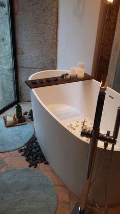 freistehende Badewanne BW-03 XL aus MIneralguss | Referenzbilder ... | {Freistehende badewanne stein 86}