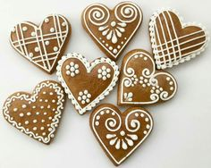 Gingerbread cookie design? Gingerbread Decorations, Christmas Gingerbread, Christmas Treats, Gingerbread Cookies, Christmas Time, Valentine Cookies, Iced Cookies, Holiday Cookies, Cupcake Cookies
