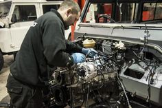 Craig hard at work to bring the gumball edition defender to life!  #twisted #defenders #engine