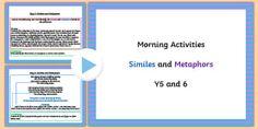 Similes And Metaphors, Morning Activities, British Council, Phonics, Grammar, How To Plan, Google Search