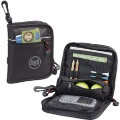Promotional Products Ideas That Work: Triton Golf Valuables Pouch. Get yours at www.luscangroup.com