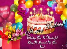 Birthday Hug, Birthday Wishes Funny, Birthday Songs, Very Happy Birthday, It's Your Birthday, Beautiful Birthday Messages, Wishes For You, Joy And Happiness, Card Sizes