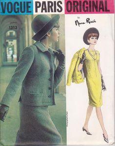 Vintage 1960s Vogue Nina Ricci $65.00
