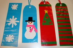 Duct Tape Christmas Winter Bookmarks