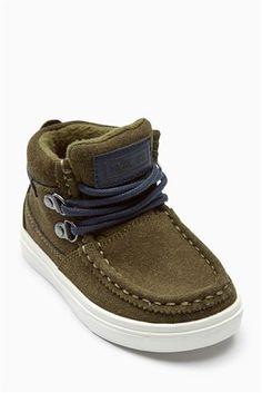 Khaki Apron Front Chukka Boots (Younger)
