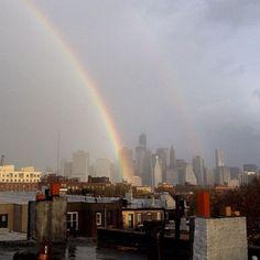 Sandy, a New York spunta l'arcobaleno