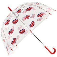 The Union Jack on hearts on an #umbrella