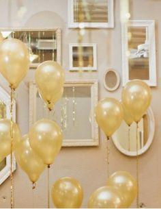 Mirrors and Gold Balloons {Ruffled Blog}