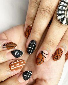Get Nails, Fancy Nails, Love Nails, How To Do Nails, Hair And Nails, Creative Nail Designs, Fall Nail Designs, Creative Nails, Cute Nails For Fall