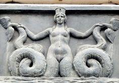 Palazzo della Provincia, Napoli The Melusine. Siren Mermaid, Mermaid Art, Mermaid Statue, Mermaid Paintings, Tattoo Mermaid, Mermaid Tails, Fantasy Mermaids, Mermaids And Mermen, Real Mermaids