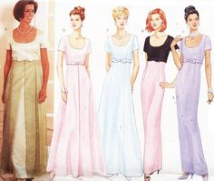 Butterick Sewing Pattern 4824 Misses' Dress Size: 20-22-24 Petite Uncut