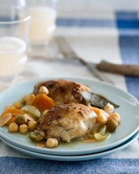 Slow Cooker Moroccan with Apricots, Olives and Almonds Recipe from Food & Wine