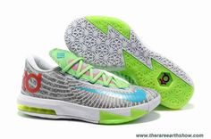 half off e5afe 49012 New Nike Zoom KD 6 White Grey Green Red Blue Kd 6 Shoes, Jordan Shoes