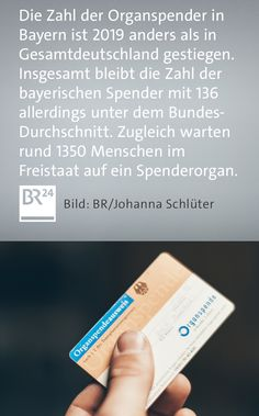 Entgegen dem Bundestrend ist die Zahl der #Organspender in #Bayern im vergangenen Jahr gestiegen. Nach vorläufigen Angaben wurden 136 Menschen im Freistaat 459 #Organe entnommen - das sind aber immer noch zu wenige, um alle Wartenden zu versorgen. Boarding Pass, Make A Donation, Numbers, Bavaria, People, Health