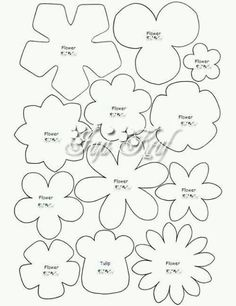30 Images of Felt Flower Template Handmade Flowers, Diy Flowers, Fabric Flowers, Paper Flowers, Paper Butterflies, Felt Flower Template, Felt Templates, Felt Flower Tutorial, Diy Felt Flower Crown