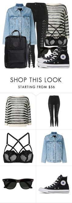 """""""Untitled #5308"""" by beatrizvilar on Polyvore featuring Yves Saint Laurent, Topshop, Fleur of England, Levi's, Ray-Ban, Converse and Fjällräven"""