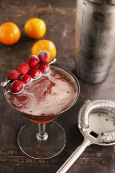 Cranberry orange rye manhattan