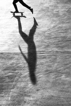 ○ Ride the light.   by Birdhouse camper #shadow #skateboard