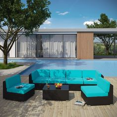 Let your outdoor entertaining fantasies take flight with this sectional set.