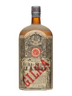 Gilka Kummel Liqueur / Bot.1910s : Buy Online - The Whisky Exchange - A litre of Kümmel from Gilka which we think was bottled sometime between 1910 and 1920.