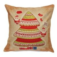 Home Decorative Comfortable Pillow Covers Christmas Theme Square Cushion Cases   1.100% Brand new,