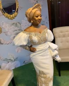 Nigerian Traditional Wedding, Traditional Wedding Attire, Traditional Outfits, Lace Skirt And Blouse, Wedding Decorations, Wedding Ideas, Beautiful Bride, Bride Pictures, Formal Dresses
