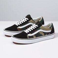 2337987154 Woodland Camo Old Skool Vans Shoes Women