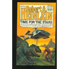 Time For The Stars by Robert A. Heinlein.  All of Heinlein's juvenile sci-fi novels pretty much rocked.  This one had twins, telepathy, and one twin aging at a different rate, due to near-light-speed travel!