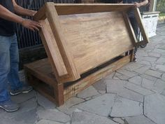 I& going to build a DIY sofa bed. I& going to build a DIY sofa bed. Diy Sofa, Space Saving Furniture, Diy Furniture, Bedroom Furniture, Furniture Plans, Diy Bett, Folding Beds, Wooden Diy, Wooden Crafts