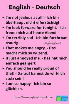 Study German, German English, German Grammar, German Words, English Phrases, Learn English Words, German Resources, Deutsch Language, Germany Language