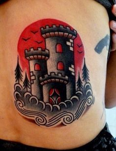 traditional castle tattoos - Google Search