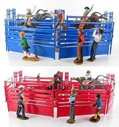Western Rodeo Deluxe Playset - Bullriders, Clowns, Red / Blue Fence New Ray http://www.amazon.com/dp/B002RIT7KM/ref=cm_sw_r_pi_dp_wsnCub1GRFB0T