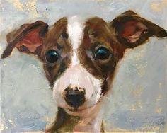 "Daily Paintworks - ""All ears"" - Original Fine Art for Sale - © Regina Lyubovnaya"