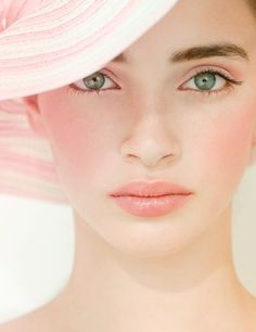 Soft blush, great face, all our brides have this sweet look and great complexion at ocbridemag.com
