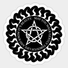 May You Walk Through Life Gently - Pagan - Sticker | TeePublic