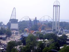 Cedar Point Ohio. We love rollercoasters