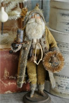 Earlywork- A Wing and a Prayer Primitive Christmas Crafts, Primitive Santa, Christmas Craft Projects, Prim Christmas, Nutcracker Christmas, Father Christmas, A Christmas Story, Vintage Christmas, Christmas Decorations