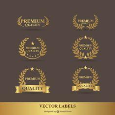 Laurel prémio gráficos vetoriais ouro Vetor grátis