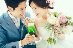 お二人の出会いのきっかけとなった「CREAM SODA」をコンセプトにした結婚式。クレイジーウェディングさんによるオリジナルウェディングです。  photo by Masato Kubo / kuppography  http://www.kuppography.com
