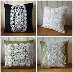 More thread crochet pillow ideas