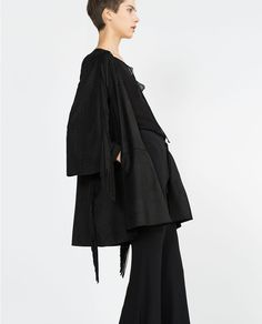 ZARA - SALE - LONG JACKET WITH FRINGING