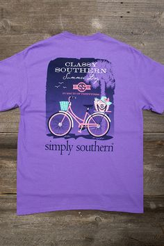 Amazing tee shirt for any occasion! Graphic on the back with a Simply Southern logo on the front. Crew neckline with short sleeves. Runs true to size. Get your Simply Southern on!