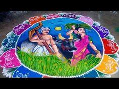 Simple Rangoli Border Designs, Indian Rangoli Designs, Rangoli Designs Latest, Rangoli Designs Flower, Rangoli Borders, Free Hand Rangoli Design, Rangoli Patterns, Rangoli Ideas, Colorful Rangoli Designs