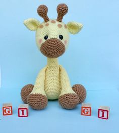 giraffe crochet pattern giraffe doll giraffe by ThePinkFoxStitches