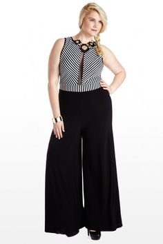 Jump to Conclusions Striped Mesh Jumpsuit
