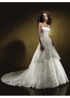 EXQUISITE ORGANZA A-LINE WEDDING DRESS LACE BRIDESMAID PARTY BALL COCKTAIL EVENING GOWN IVORY WHITE FORMAL BRIDAL PROM