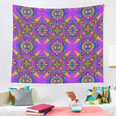 """""""Geometric Stain Glass Star"""" Tapestry by Pultzar   Redbubble"""