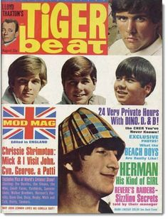 1966 My Favorite Year: Tiger Beat, August, 1966, featuring Dino, Desi and Billy