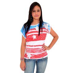Blusinha Bandeira da América