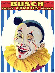 Circus Clown.  1926  http://www.vintagevenus.com.au/vintage/reprints/info/C374.htm